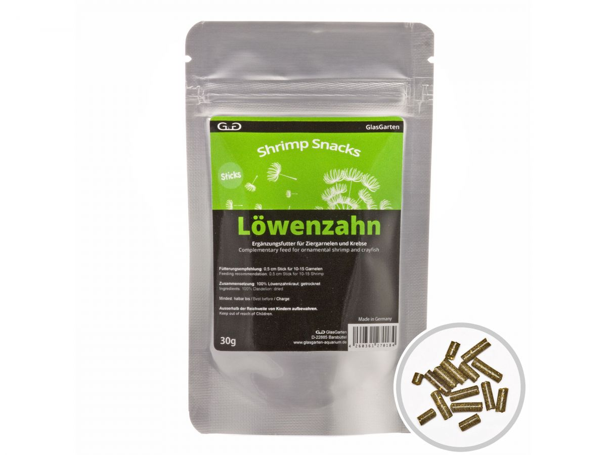 GlasGarten Shrimp Snacks Löwenzahn 30g